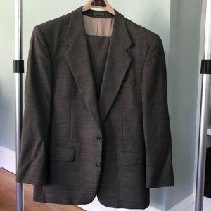 Boyd's brown tweed wool suit